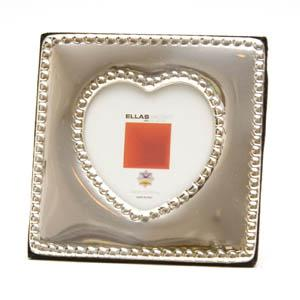 Italian Sterling Silver Heart-Shaped Picture Frame - Item # 1070 - Reliable Gold Ltd.