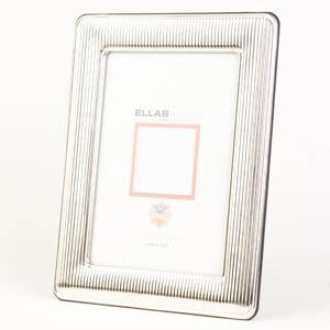 Italian Sterling Silver Striped Picture Frame - Item # 1103 - Reliable Gold Ltd.