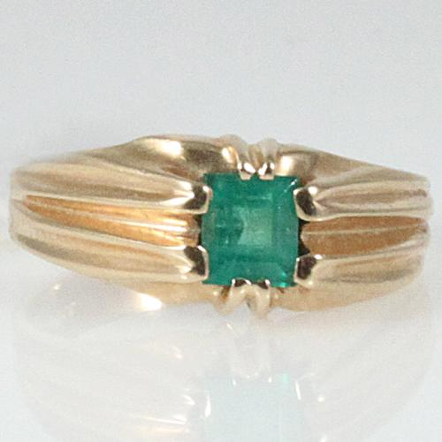 Important Emerald Man's Ring In Yellow Gold - Item # 205-00006 - Reliable Gold Ltd.
