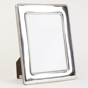 Italian Sterling Silver Beaded Picture Frame - Item # 2075 - Reliable Gold Ltd.