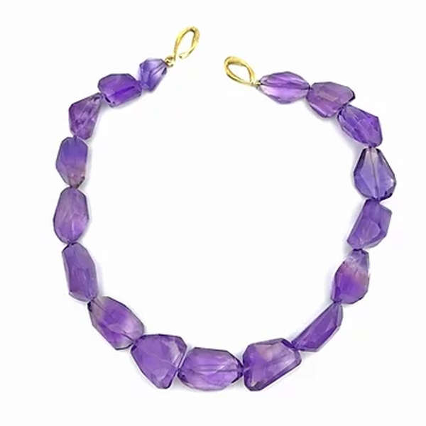 Amethyst Faceted Pebble Strand - Item # OEM018 - Reliable Gold Ltd.