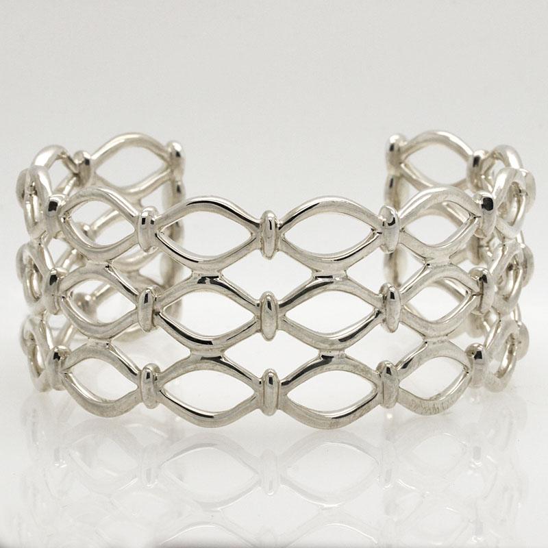 Beehive Cuff Bracelet - Item # B5288 - Reliable Gold Ltd.