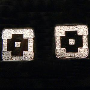 Onyx and Diamond Cufflinks - Item # CL452 - Reliable Gold Ltd.