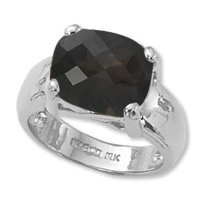 Silver Quartz Ring - Item # 70789SQ-SS - Reliable Gold Ltd.