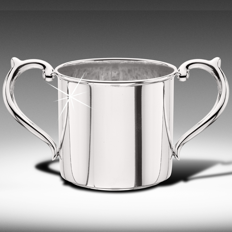 Sterling Silver Double-Handled Baby Cup - Item # CUPSD - Reliable Gold Ltd.