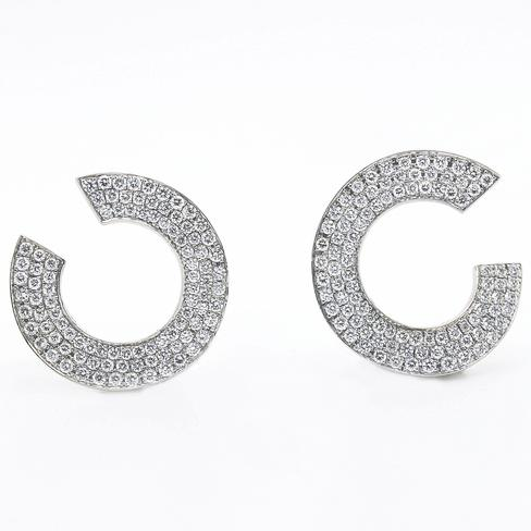 Sparkling Take On Everyday Hoop Earrings - Item # ER4842 - Reliable Gold Ltd.
