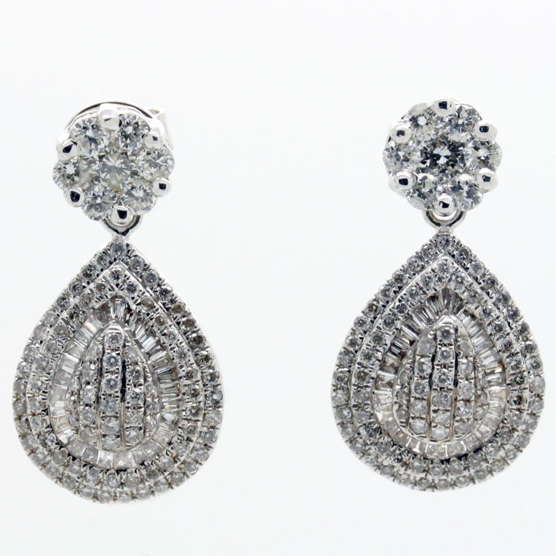 Dramatic And Beautiful Diamond Drop Earrings - Item # ER4884 - Reliable Gold Ltd.