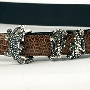 Sterling Silver Alligator Buckle - Item # K115 - Reliable Gold Ltd.