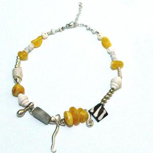 Amber And Silver Necklace - Item # N2510 - Reliable Gold Ltd.