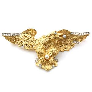 Estate Gold And Diamond Eagle Pin - Item # P3003 - Reliable Gold Ltd.