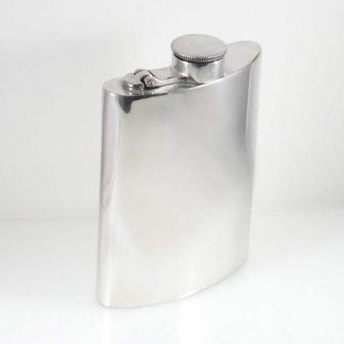 Bottoms Up Sterling Silver Flask - Item # P601CT - Reliable Gold Ltd.