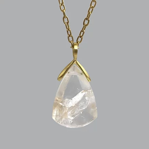 Phantom Quartz Teardrop Pendant - Item # OEM014 - Reliable Gold Ltd.