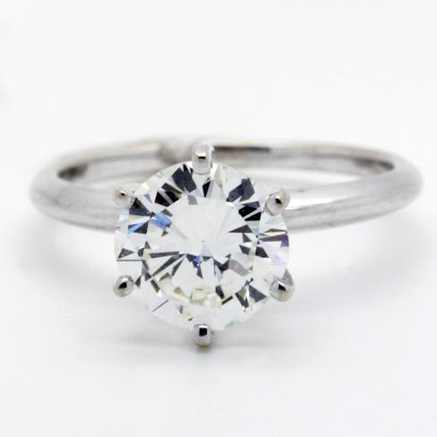 Classic Knockout Diamond Solitaire Ring - Item # R2369A - Reliable Gold Ltd.