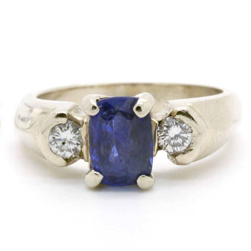 Estate Sapphire And Diamond Ring - Item # R2644A - Reliable Gold Ltd.