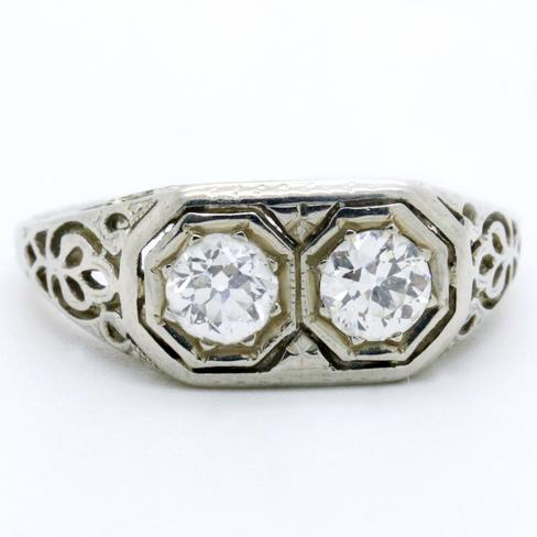 Double Header Diamond Ring - Item # R2699A - Reliable Gold Ltd.