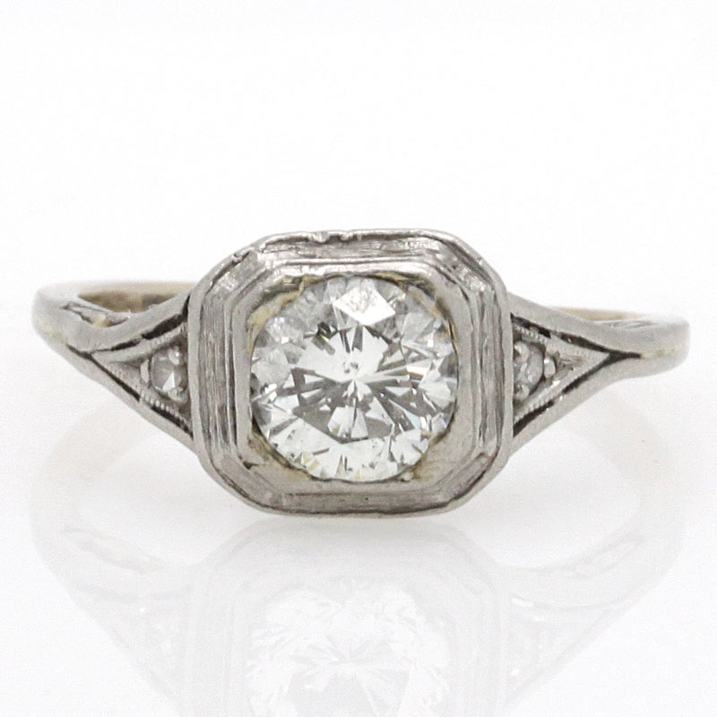 Estate Diamond Engagement Ring Circa 1930's - Item # R2755A - Reliable Gold Ltd.