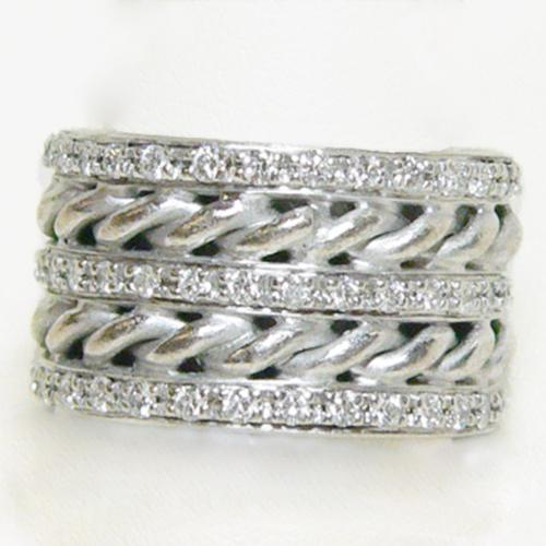 Dynamite Diamond In 18K White Gold Multiband - Item # R6146 - Reliable Gold Ltd.
