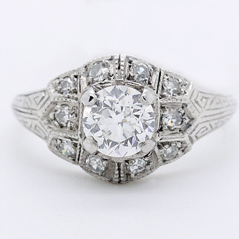 Exquisite 1920's Reproduction Diamond Ring - Item # R5766 - Reliable Gold Ltd.