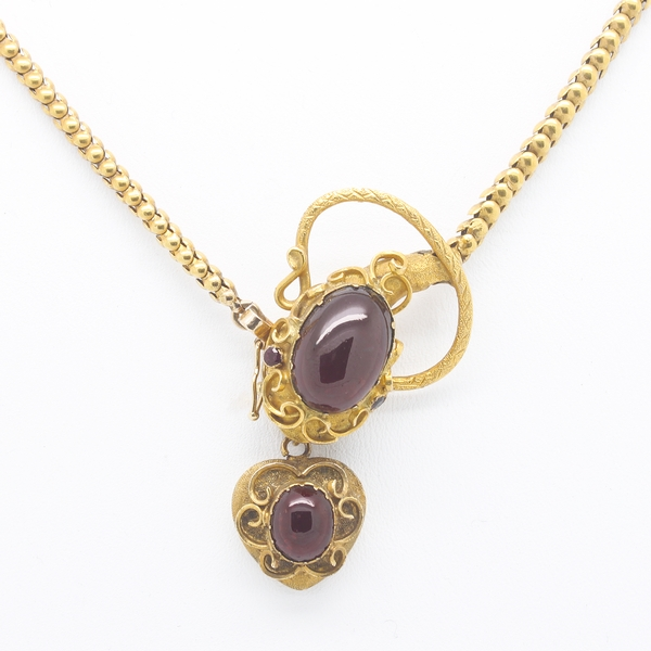 Antique Snake Necklace With Garnets - Item # N0152 - Reliable Gold Ltd.