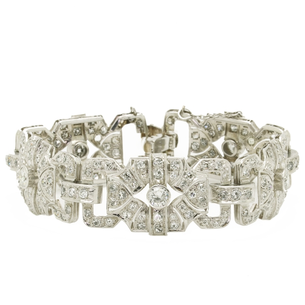 Art Deco Style Diamond Bracelet - Item # B0324 - Reliable Gold Ltd.