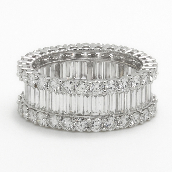 Baguette & Round Diamond Eternity Band Ring - Item # R0271 - Reliable Gold Ltd.