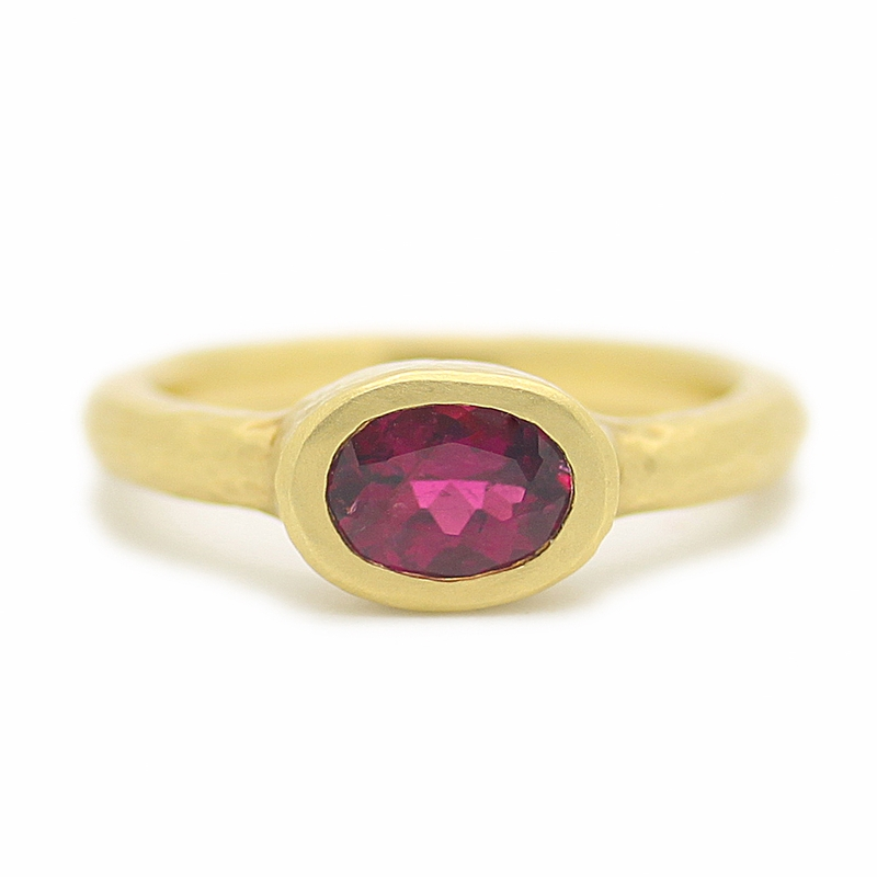 Rubellite Garnet Ring In Yellow Gold - Item # R0176 - Reliable Gold Ltd.