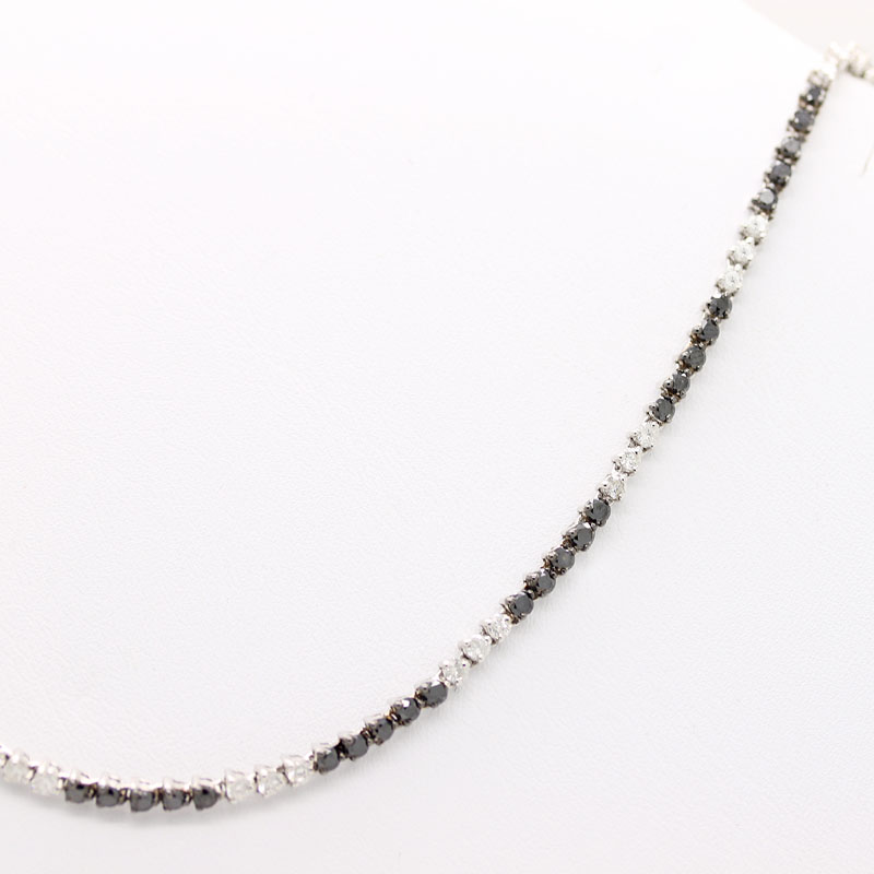 Black & White Diamond Necklace - Item # N3192 - Reliable Gold Ltd.