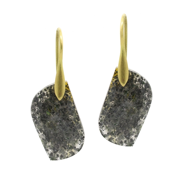 Black Sunstone Drop Earrings - Item # OEM14 - Reliable Gold Ltd.