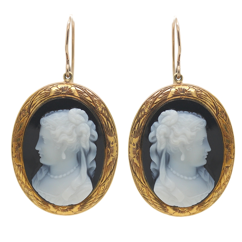 Victorian Cameo Earrings - Item # ER5072 - Reliable Gold Ltd.