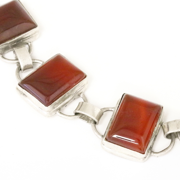 Carnelian Link Bracelet - Item # B1336 - Reliable Gold Ltd.