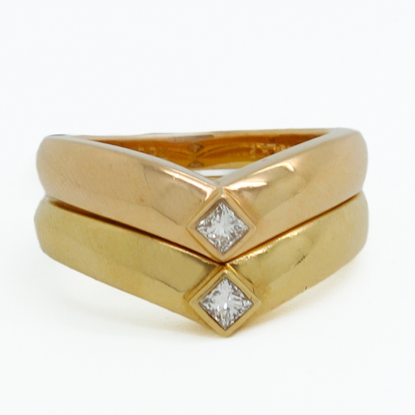 Cartier Twin Diamond Rings - Item # JHM009 - Reliable Gold Ltd.