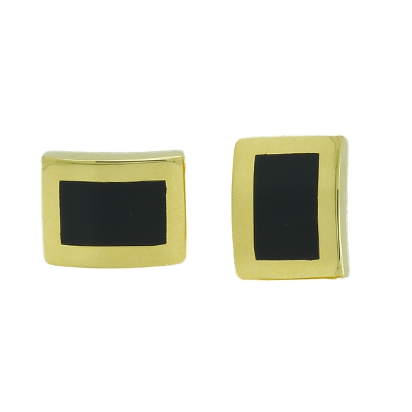 Black Chalcedony Cuff Links - Item # CL1013 - Reliable Gold Ltd.