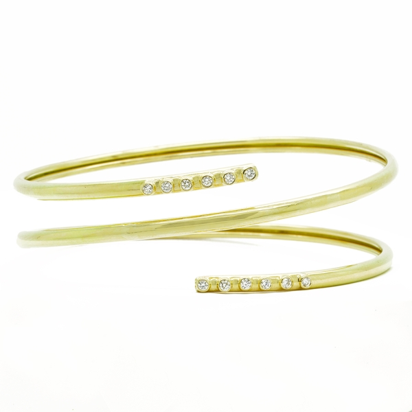 Diamond Wrap Around Bracelet - Item # B1299 - Reliable Gold Ltd.