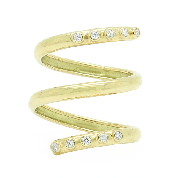 Wraparound Diamond Ring In Yellow Gold - Item # R1686 - Reliable Gold Ltd.