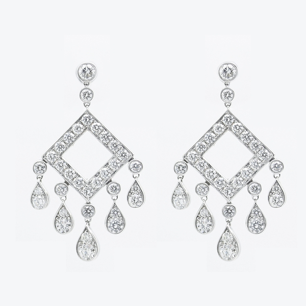 Diamond Chandelier Earrings - Item # WPM007 - Reliable Gold Ltd.