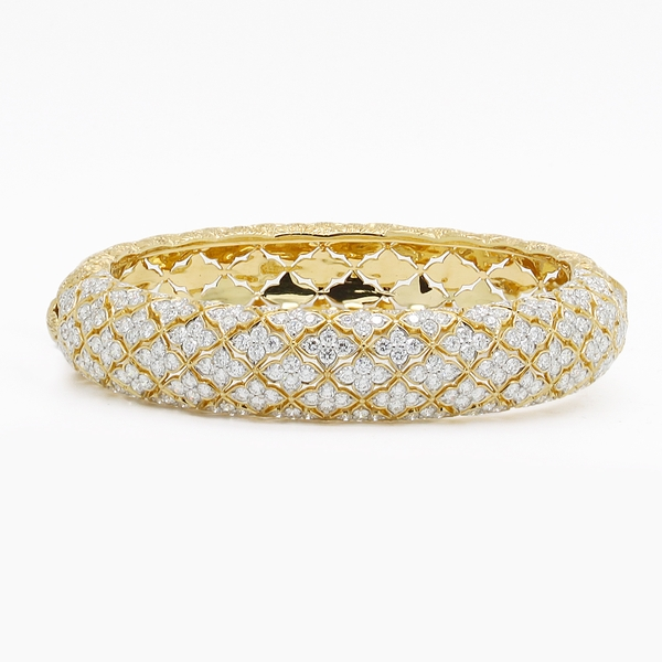 Diamond Hinged Bangle Bracelet - Item # JM0061 - Reliable Gold Ltd.