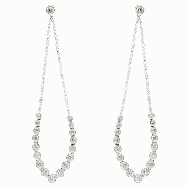 Diamond Detachable Chandelier Earrings - Item # CHM023 - Reliable Gold Ltd.