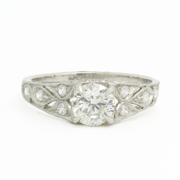 Platinum Diamond Engagement Ring - Item # JM13119 - Reliable Gold Ltd.