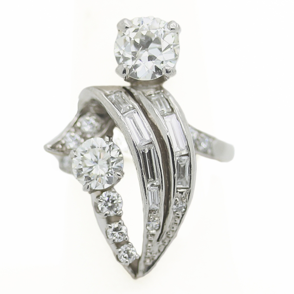 Estate Diamond Cocktail Ring - Item # R0423 - Reliable Gold Ltd.