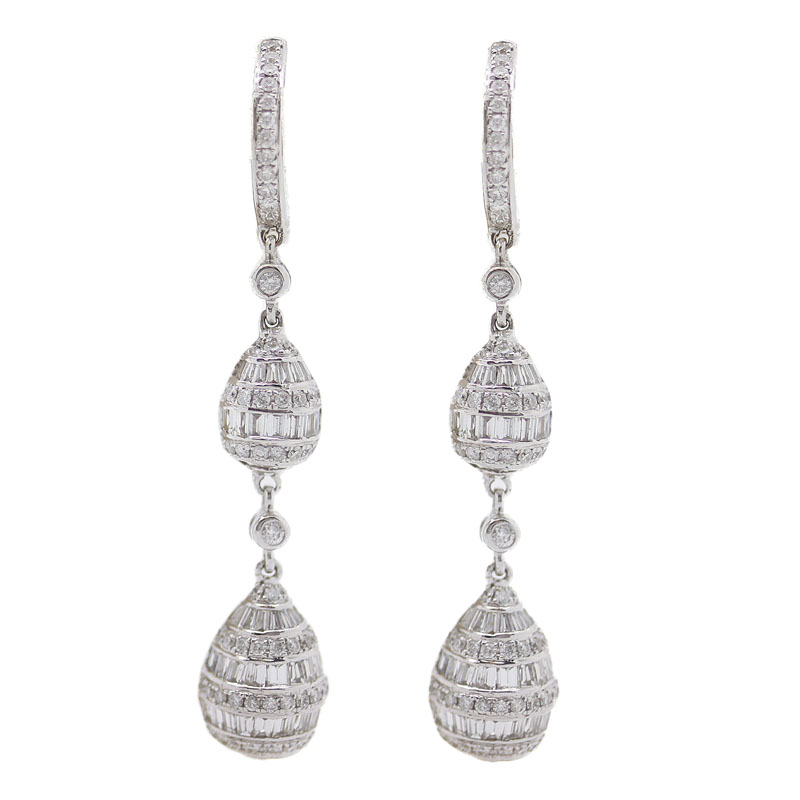 Spectacular Diamond Pendant Earrings - Item # ER4404 - Reliable Gold Ltd.