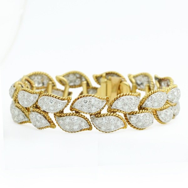 Diamond Estate Petal Bracelet - Item # B300 - Reliable Gold Ltd.