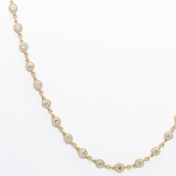 18K Diamonds By The Yard Necklace - Item # N0189 - Reliable Gold Ltd.