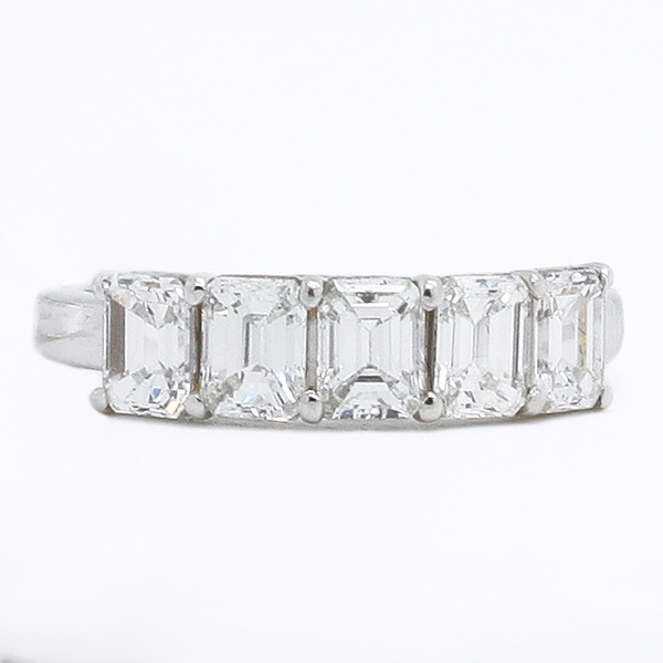 Emerald Cut Diamond Band - Item # JM0057 - Reliable Gold Ltd.
