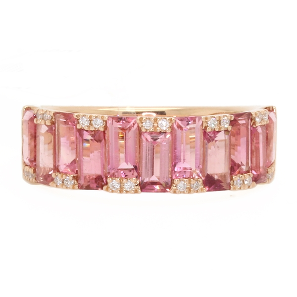 Pink Tourmaline & Diamond Ring - Item # R1728 - Reliable Gold Ltd.