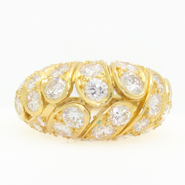 Estate Diamond Domed Ring - Item # JHM11 - Reliable Gold Ltd.