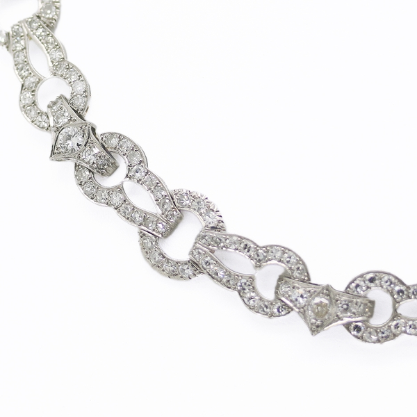 Stunning Diamond In Platinum Necklace - Item # N0201 - Reliable Gold Ltd.
