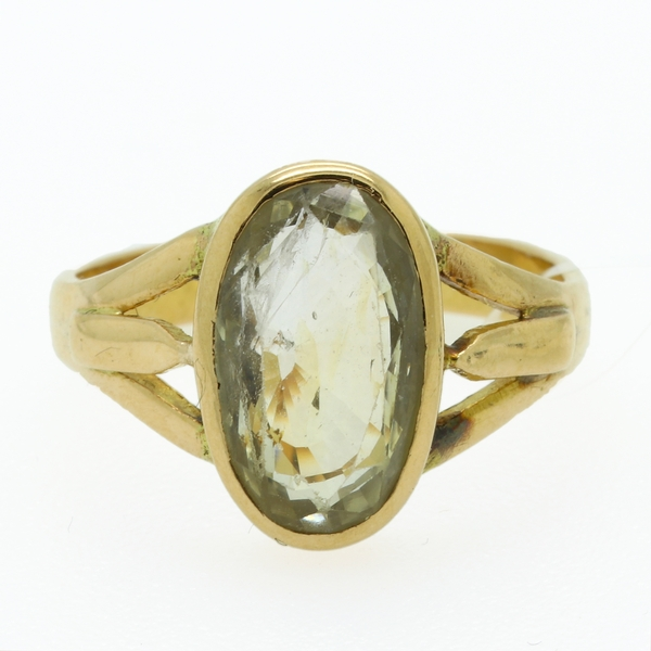 Estate Yellow Sapphire Ring - Item # R1659 - Reliable Gold Ltd.