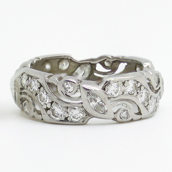 Estate Diamond Band In Platinum - Item # R0435 - Reliable Gold Ltd.
