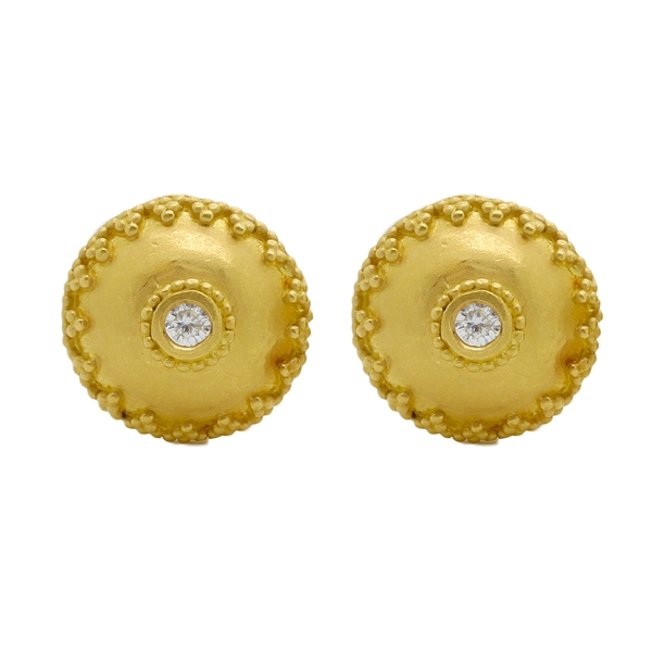 Etruscan-Style Diamond Earrings - Item # ER0478 - Reliable Gold Ltd.
