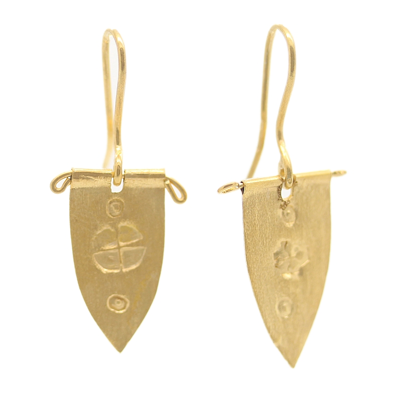 22K Gold Over Sterling Silver Drop Earrings - Item # ER0167 - Reliable Gold Ltd.